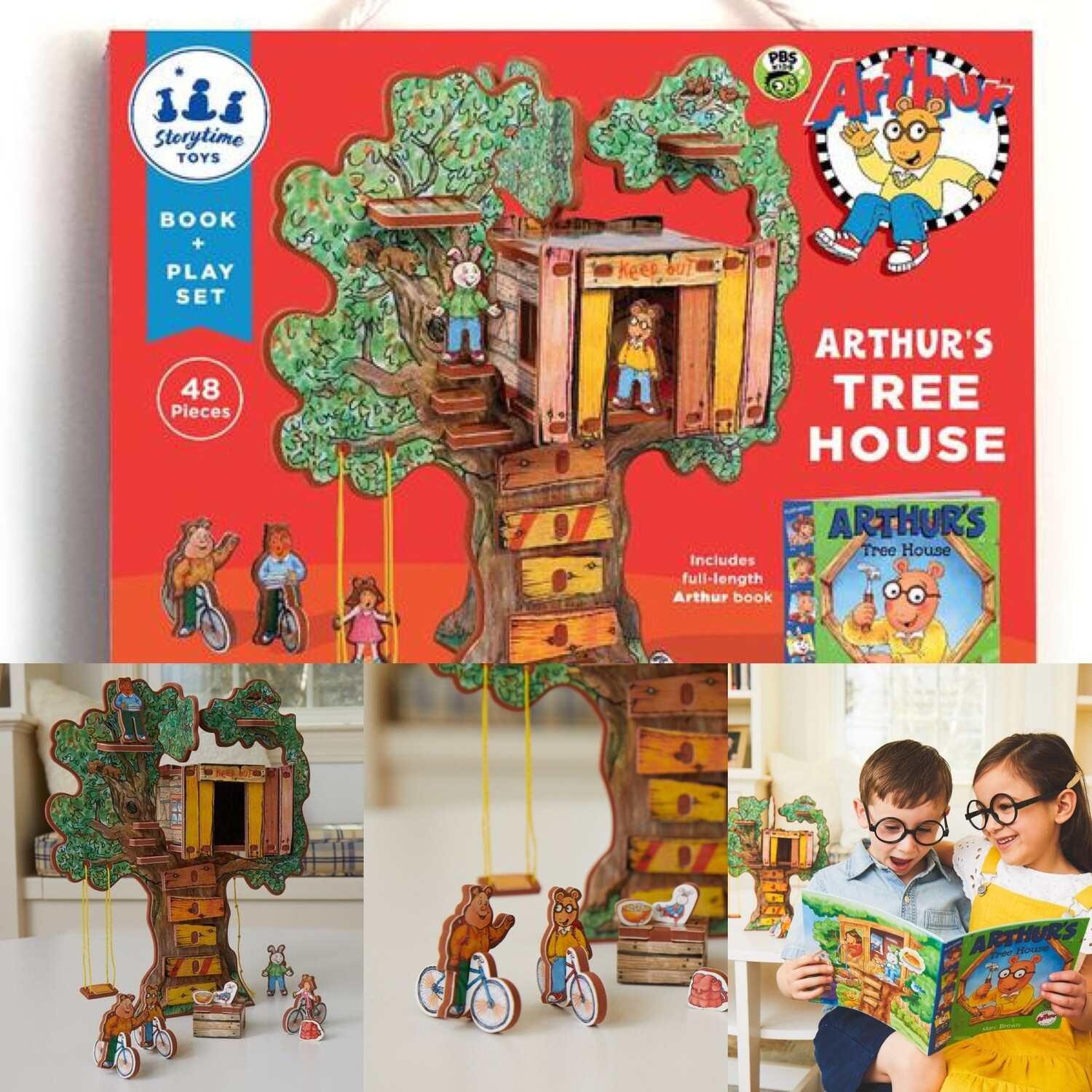 Arthur's Tree House 3D Imaginative Playset with Book