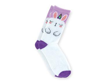Fuzzy Socks Unicorn Bunny Lavender
