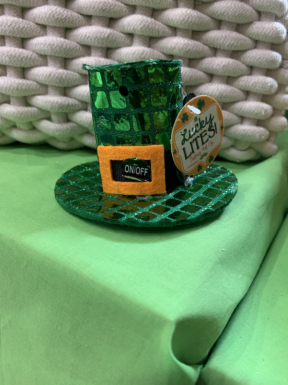 St Patrick's Day Flashing Hat Clip