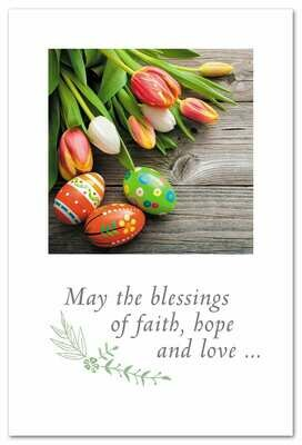 Blessings of Faith, Hope, and Easter Card