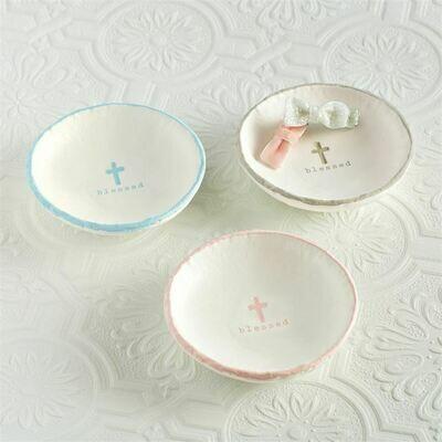 Blessed Trinket Dish - Blue