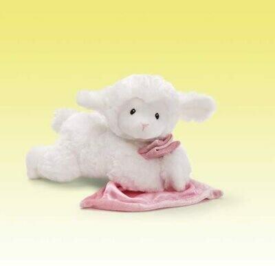 GUND Lena Lamb with Pink Blanket Stuffed Animal Sound Plush, 6