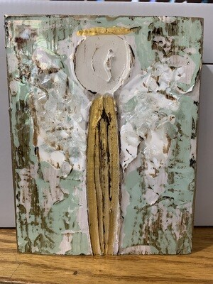 Susan Hood 6x7 Angel Gold and Green