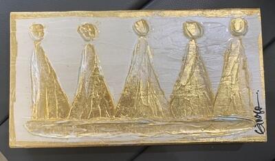 Ginger Leigh XL Wood Crown Art