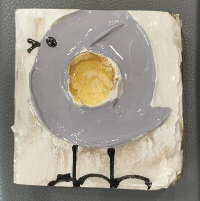 Susan Hood Little Grey Bird 4x4 Art