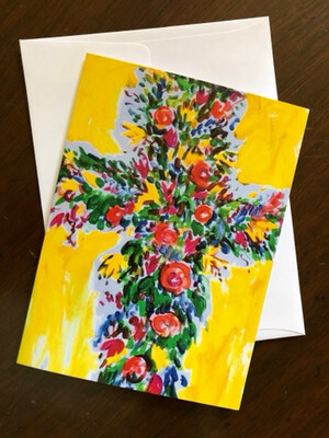 10 Blank Notecards and Envelopes Tim Trapolin Trinity Easter Cross