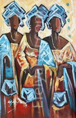 Aso-ebi- Oil painting Canvas - 24