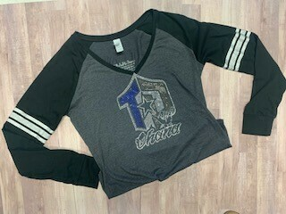 Ladies Game Day Long Sleeve V-neck Tee