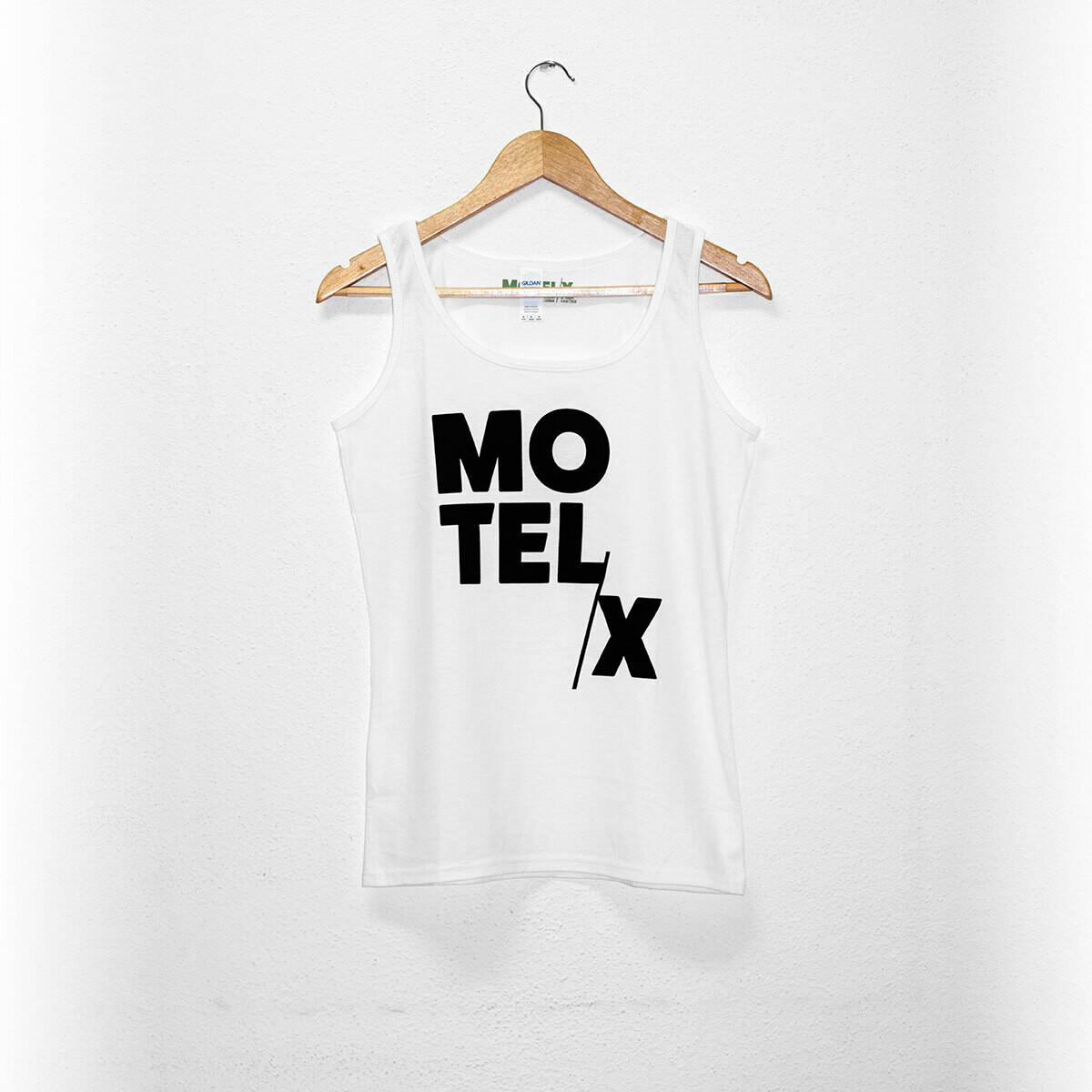 MOTELX Logo Tank Top Ladies / WHITE