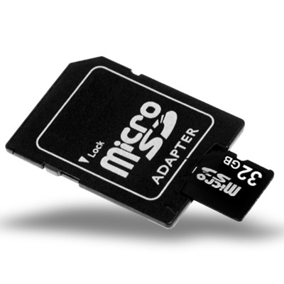 32GB MicroSD / TF Card with SD Card Slot Adapter