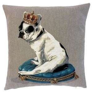 Belgian tapestry - FRENCH BULLDOG WITH CROWN