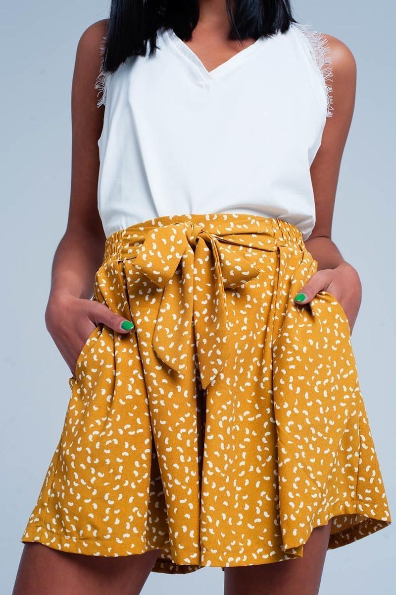 Mustard High Waisted Shorts