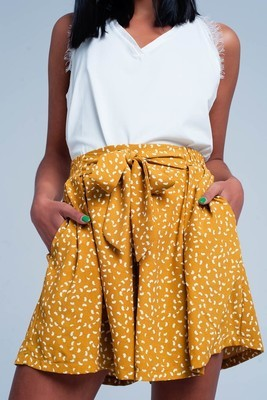 Mustard High Waisted Shorts