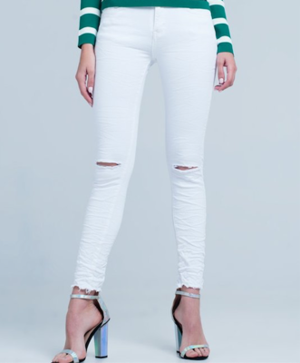 Rustic White Denim Jean