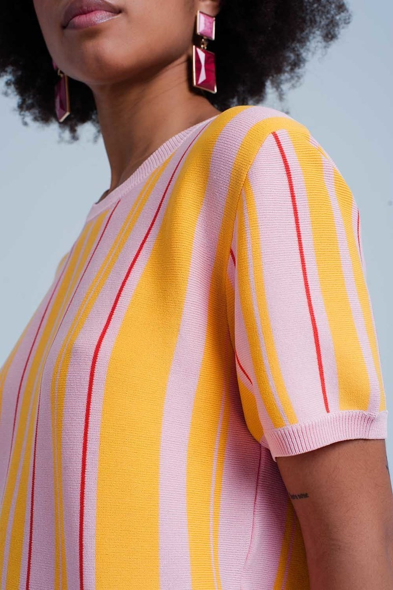 Belmont Short Sleeve Knit Top