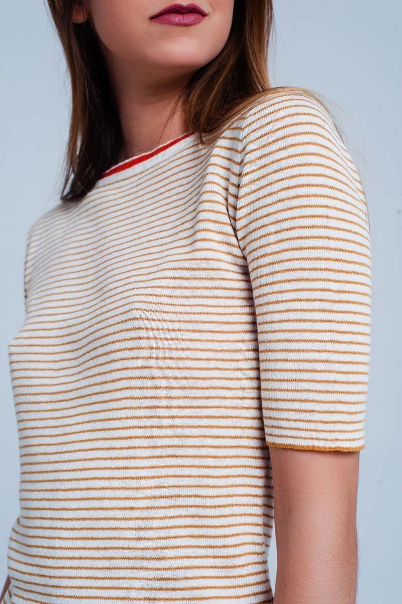 Santa Anita Short Sleeve Knit Top