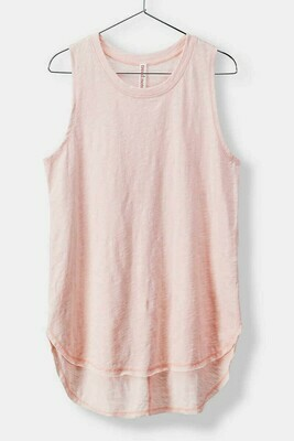 Basic Sleeveless Long Cotton Tee