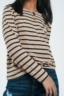 Cafe Au Lait Long Sleeve Top