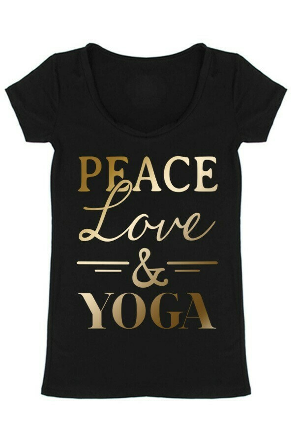Peace Love and Yoga Tee