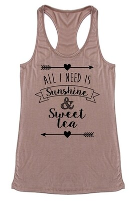 Sunshine & Sweet Tea Tank Top
