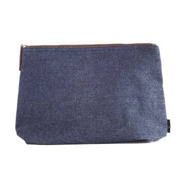 Indigo Canvas Pouch Large