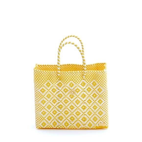Oaxaca Yellow & White Tote Bag