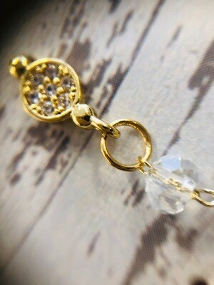 Delicate Single line drop earrings