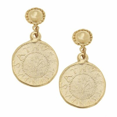 Gold Cab Earring