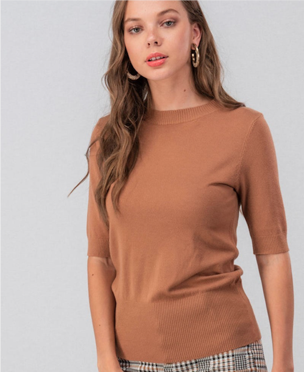 Soft Knit Half Sleeve Top