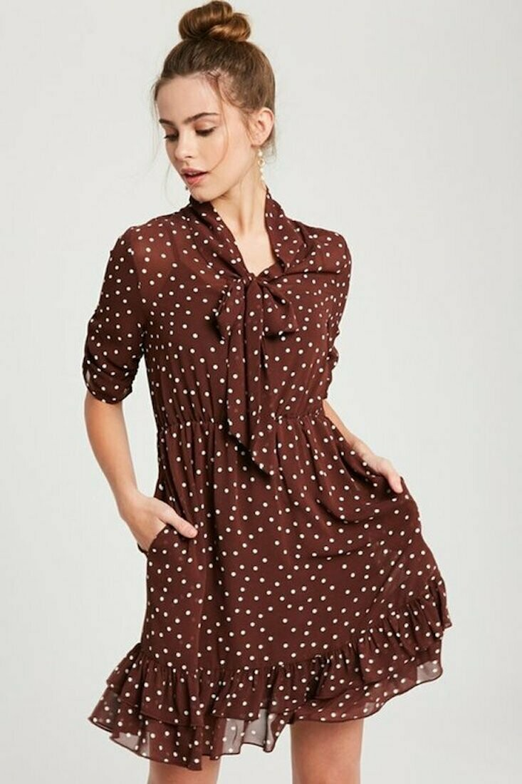Chifton Polka Dress