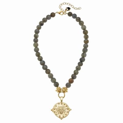 Bee and Labradorite Necklace