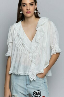 Whispering Angel Lace Top