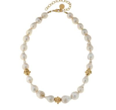 Large Baroque Genuine Freshwater Pearls Necklace