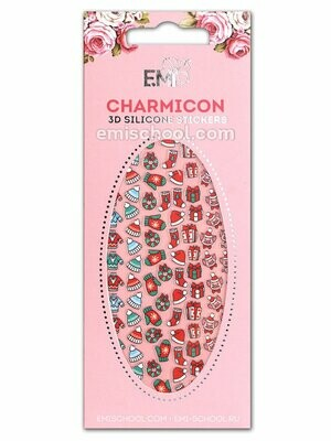 Charmicon 3D Silicone Stickers #70 Merry Christmas