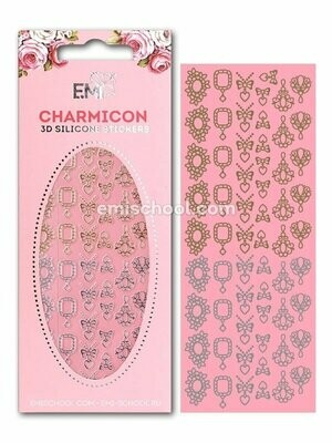 Charmicon 3D Silicone Stickers Jewelry Gold/Silver #4