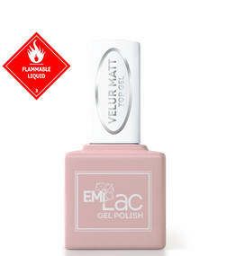 E.MiLac Velur Matt Top Gel, 9 ml.