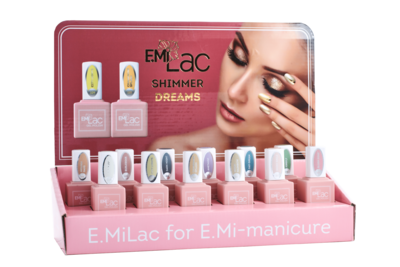 Display E.MiLac Shimmer Dreams+Set