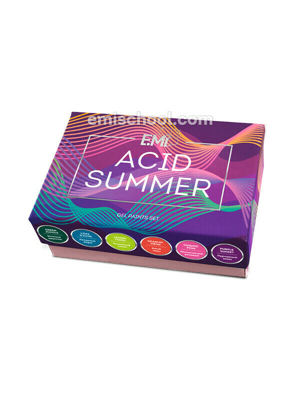 Gel Paints Set Acid Summer