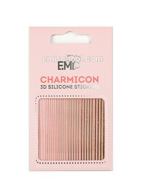 Charmicon 3D Silicone Stickers #117 Lines Gold