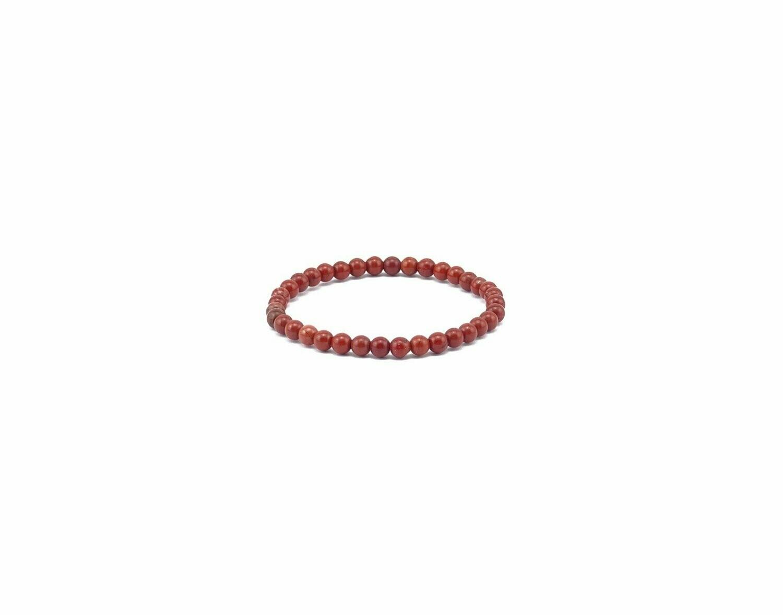 Edelstein-Armband roter Jaspis Ø 4 mm Kugeln
