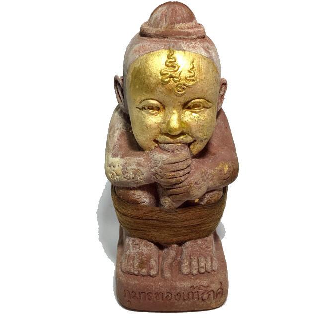 Kumarn Tong Run Sud Taay 27 Gote - 8 x 6 x 15 Cm Bucha Statue - Nuea Pong Prai Kumarn - 'Kumarn Tong Gao Gote' 3rd & Final Edition 2556 BE - Luang Por Goy.