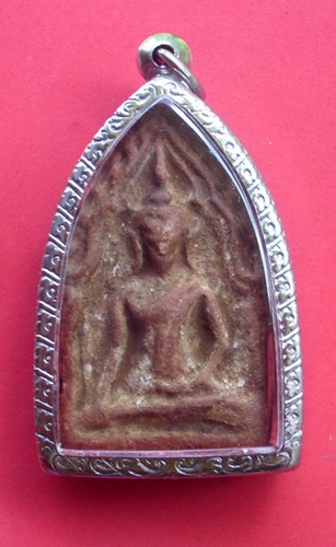 Pra Khun Phaen Pim Niyom Chae Nam Montr (soaked in Prayer Water) 2519 BE - Nuea Din Phao (baked sacred clays) - Luang Phu Suang 2519 BE - Tewada Len Din (500 year old monk)