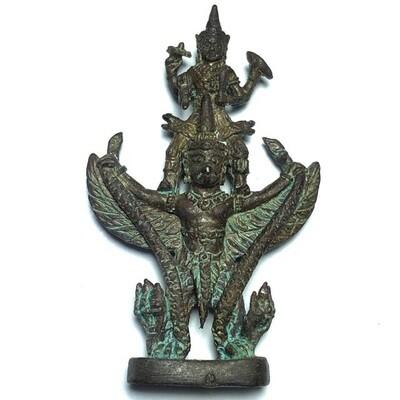 Pra Narai Song Krut Chut Pised (Vishnu Garuda and Nagas) - Dtua Jiw (miniature Loi Ongk) - Por Tan Prohm - Wat Palanupap