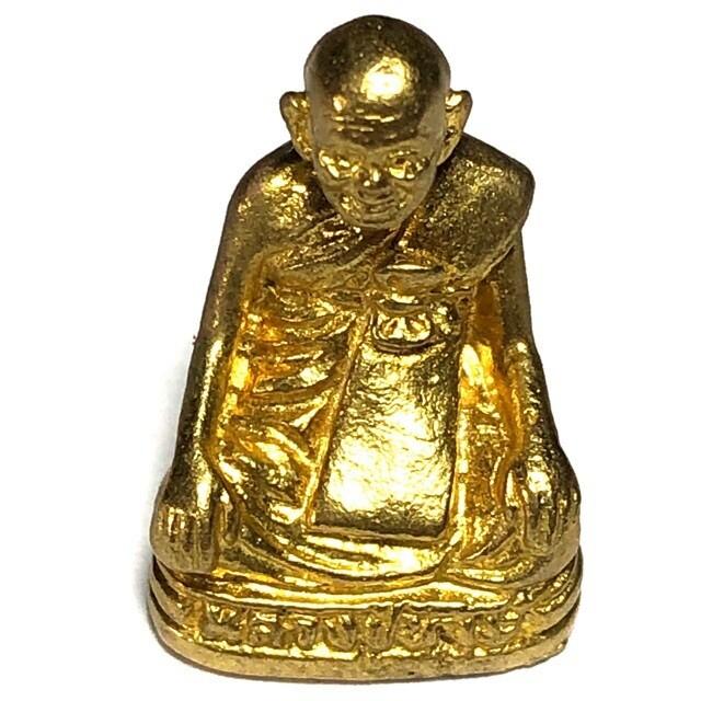 Roop Muean Luang Phu Hongs (Loi Ongk statuette) 'Run Sethee Twee Kun' edition 2553 - Sussaan Tung Mon (Surin)