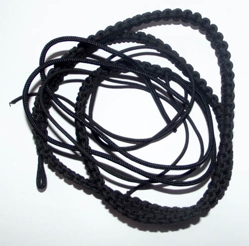 Chuak Takrut Kart Aew - Hand Plaited Cord Belt for Takrut, Palad Khik & other Occult Charms - Black Color 37 Inches