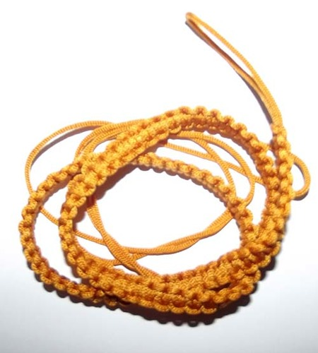 Chuak Takrut Kart Aew - Hand Plaited Cord Waist Belt for Amulets - free with orders over 50$ - Yellow Color 26 - 32 Inch waist