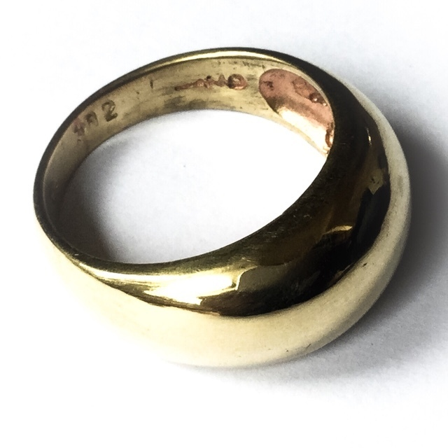 Hwaen Pirod Ring of Elemental Fire, Power and Protection 2.2 Cm Inner Width Nuea Tong Buab - Luang Por Tong - Wat Pra Puttabat Khao Yay Horm