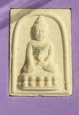 Pra Somdej Kring Roey Pong Tabai - Sacred Powder Buddha with Tabai Filings and Kring Bead - Blessed at Wat Sutat in 2543 BE