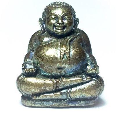Pra Sangkajjai Arahant of Wealth and Happiness - Nuea Samrit Ud Muan Sarn - Brazen Metals with Magic Powders - Luang Por Raks Analayo