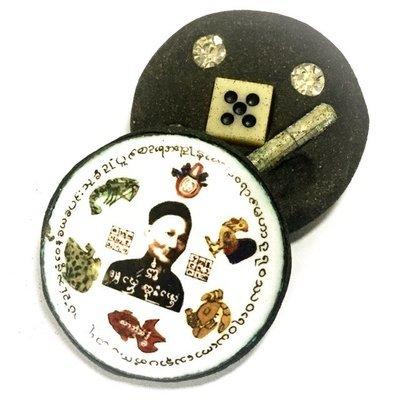 Locket Er Ger Fong (Por Phu Yee Gor Hong) Gambling Amulet - Takrut Siang Choke + Enchanted Dice 3 Pokasap Gems - Ajarn Meng Khun Phaen